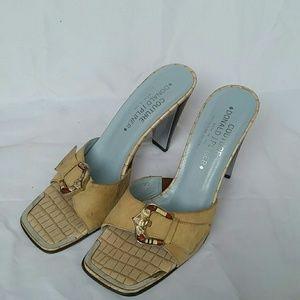 Donald J. Pliner Delle leather heels sandals 7.5